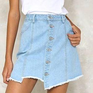Nasty Gal Denim skirt, size medium